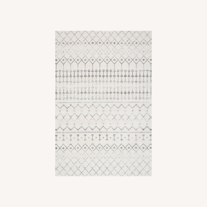 Geometric Gray Rug - image-0