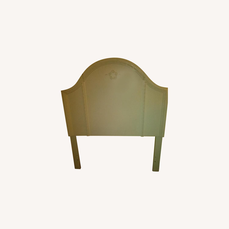 White Solid Wood Twin Headboard - image-0