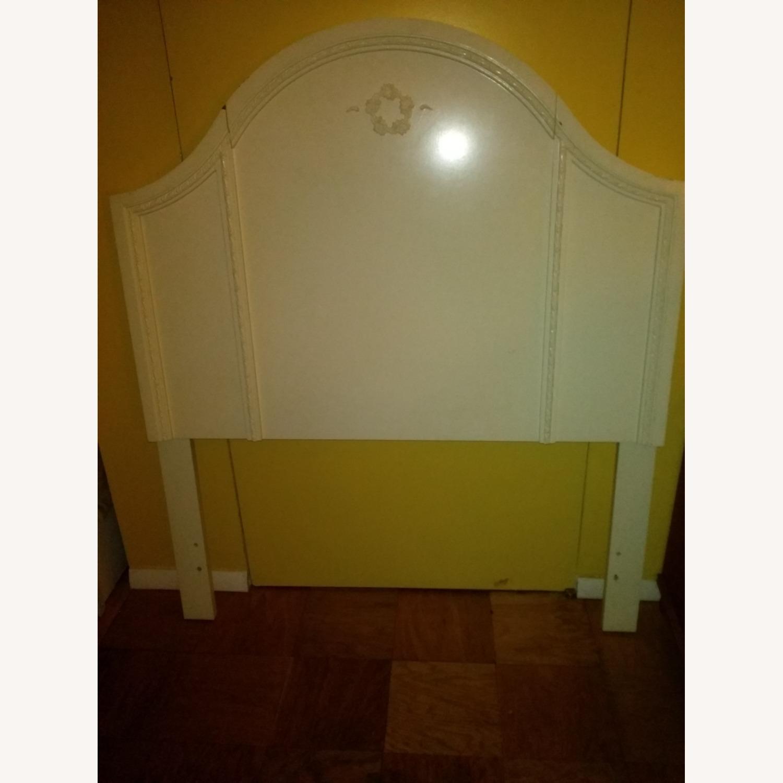 White Solid Wood Twin Headboard - image-1
