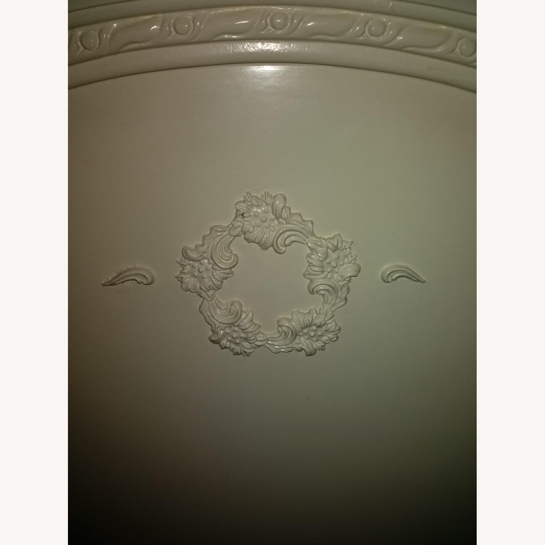 White Solid Wood Twin Headboard - image-3