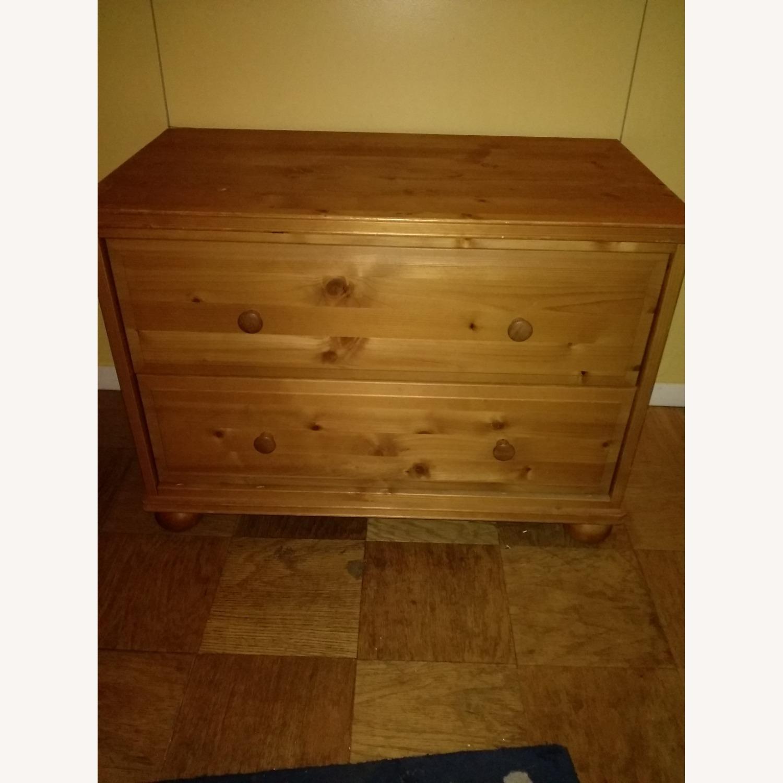 2-drawer Wooden Unit - image-1