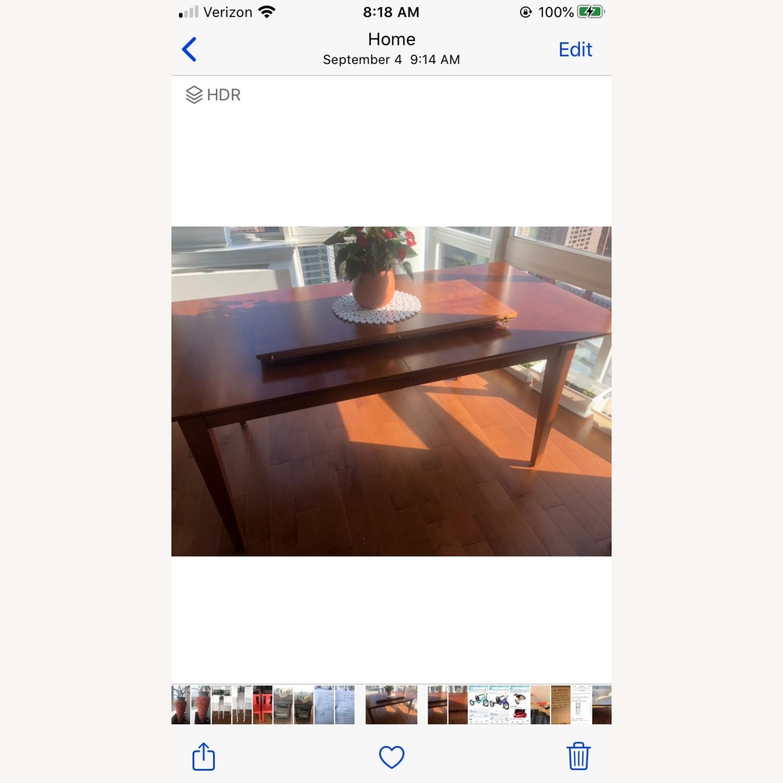 Crate & Barrel Walnut Extendable Midcentury Table - image-4