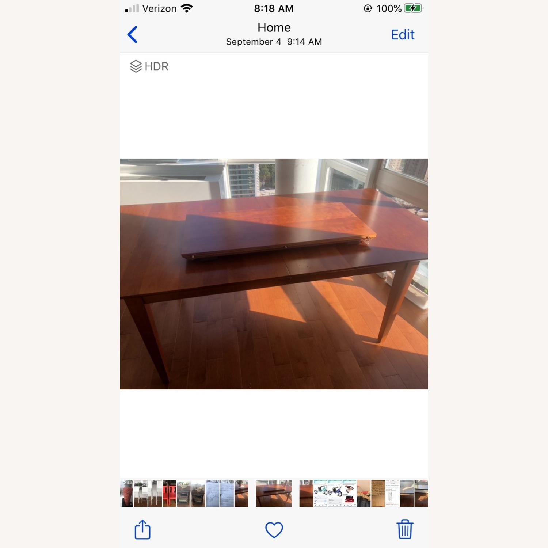 Crate & Barrel Walnut Extendable Midcentury Table - image-1