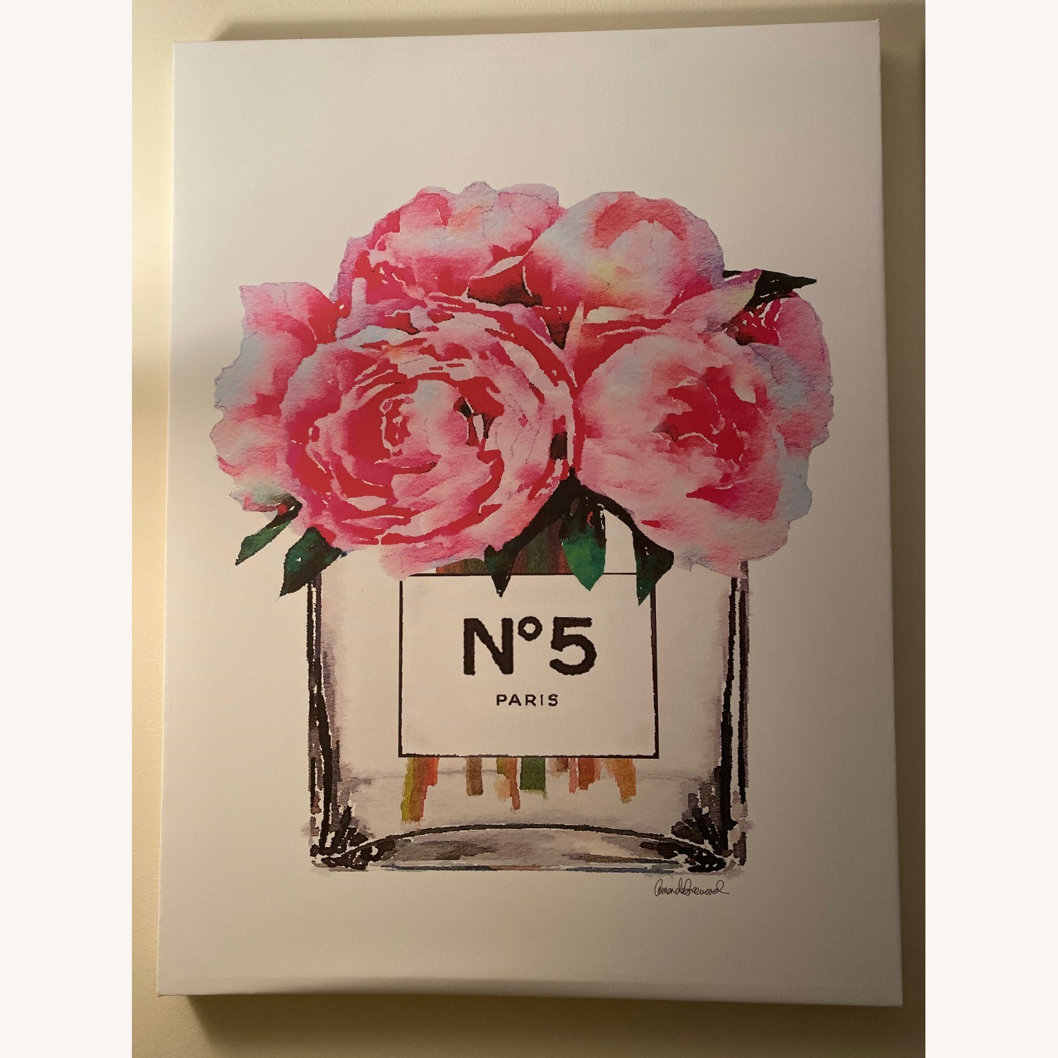 Chanel Perfume Canvas Painting - image-1