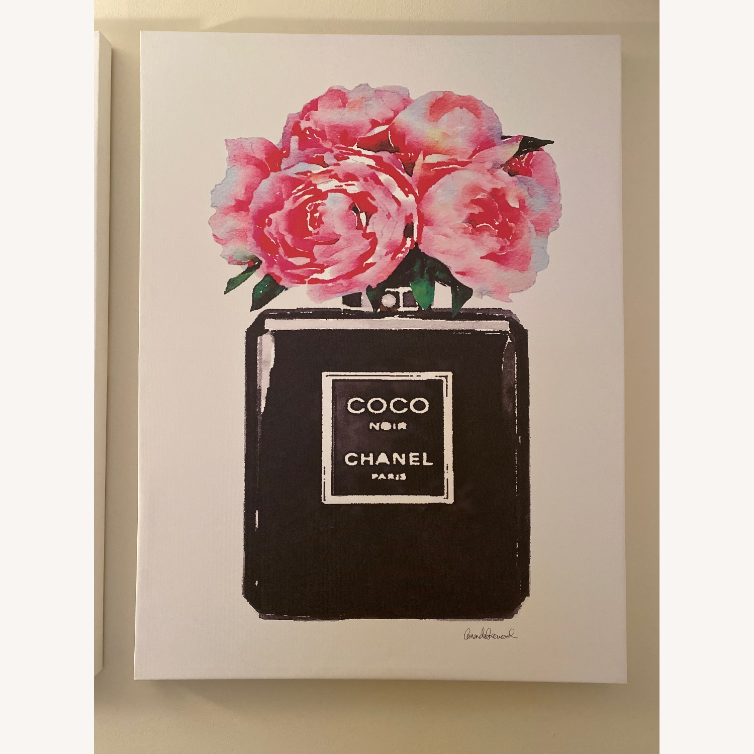 Wayfair Chanel Perfume Canvas Painting - image-1