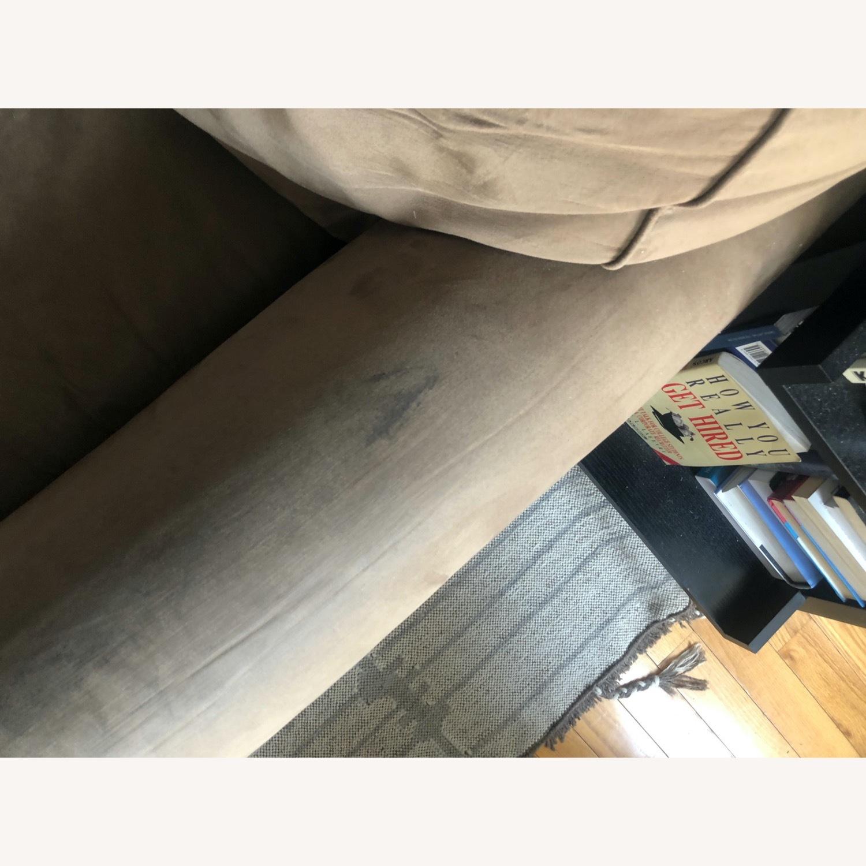 Brown Suede Sofa - image-5