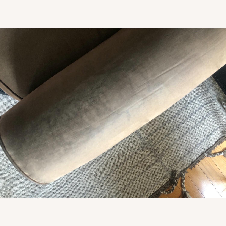 Brown Suede Sofa - image-4