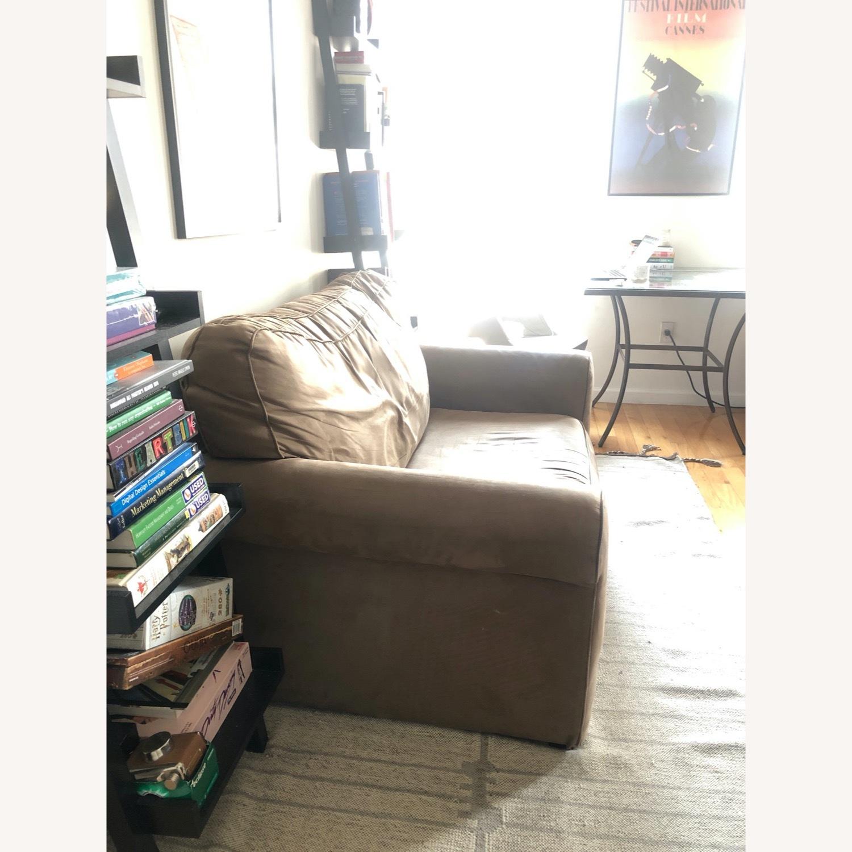 Brown Suede Sofa - image-2