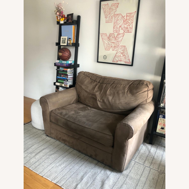 Brown Suede Sofa - image-3