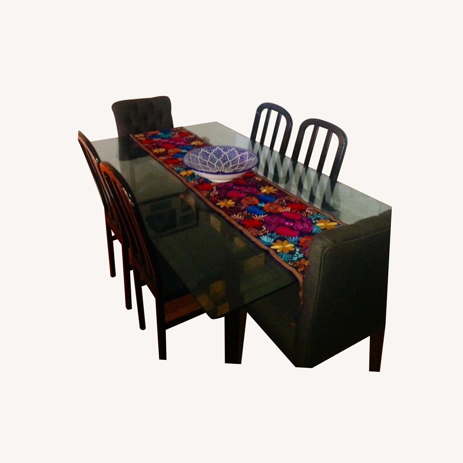 Large Glass Dining Set - image-0