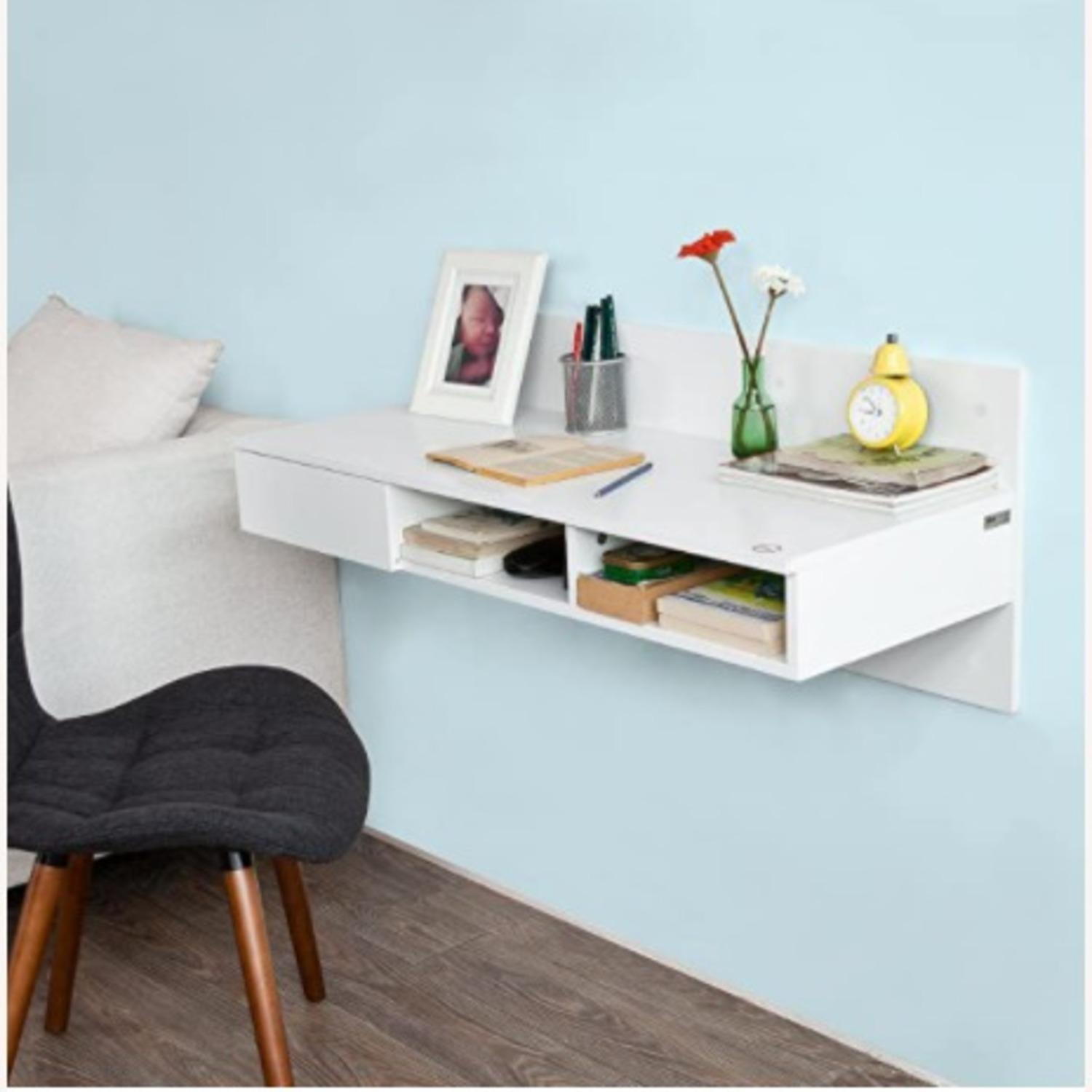 Tribecca Home Wall-Mounted Desk - image-1