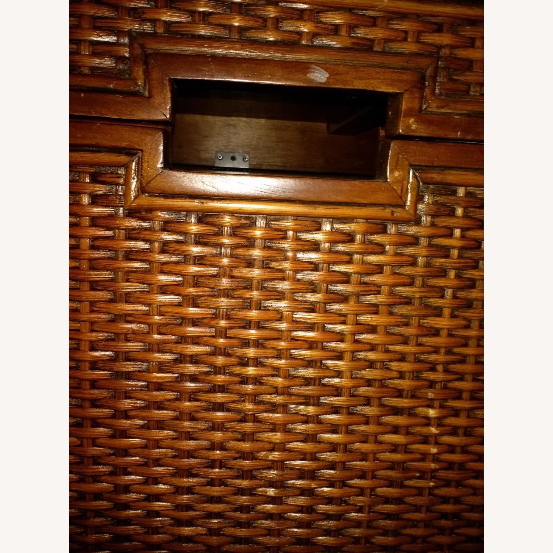 Oak and Wicker Storage Trunk - image-4