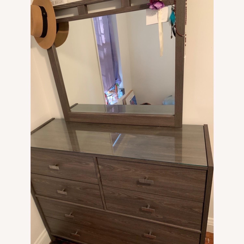 Bob's Discount Furniture Soho Dresser & Mirror - image-3