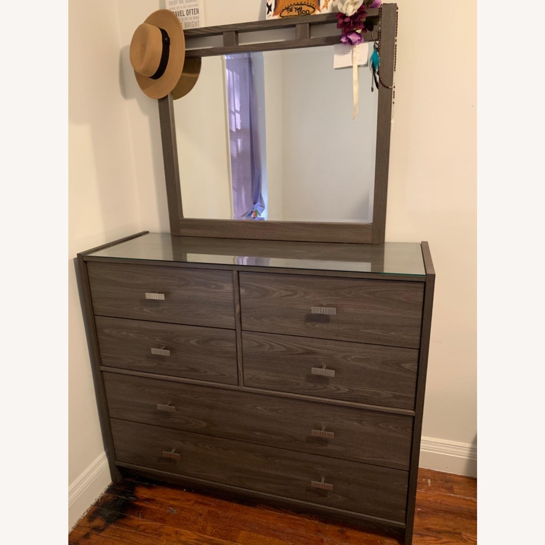 Bob's Discount Furniture Soho Dresser & Mirror - image-1