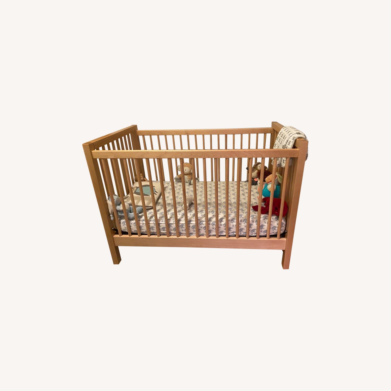 Land of Nod Mable Wood Crib - image-0