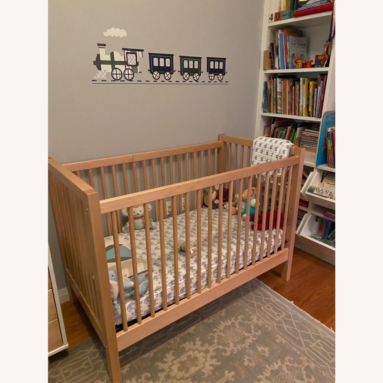 Land of Nod Mable Wood Crib - image-1