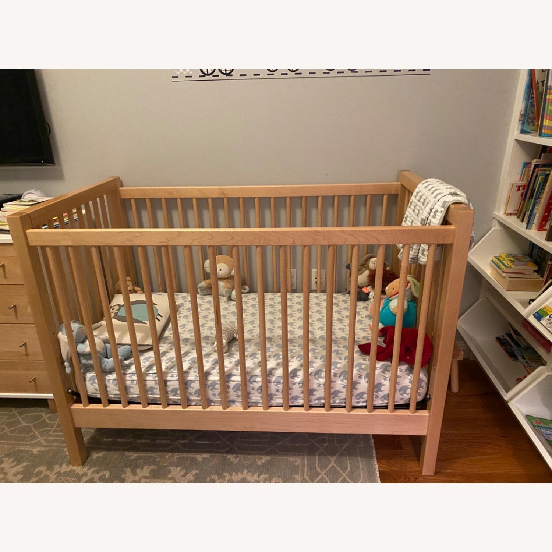 Land of Nod Mable Wood Crib - image-3