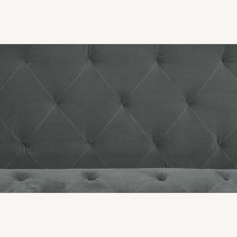 Wayfair Grey Velvet Sofa - image-4