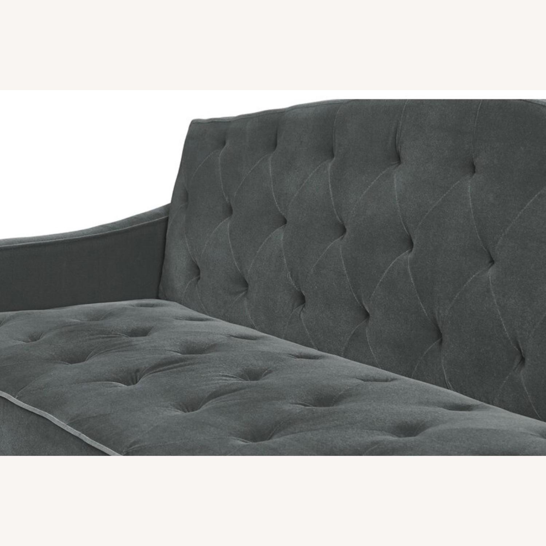 Wayfair Grey Velvet Sofa - image-7