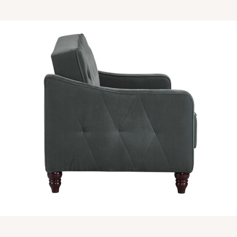 Wayfair Grey Velvet Sofa - image-10