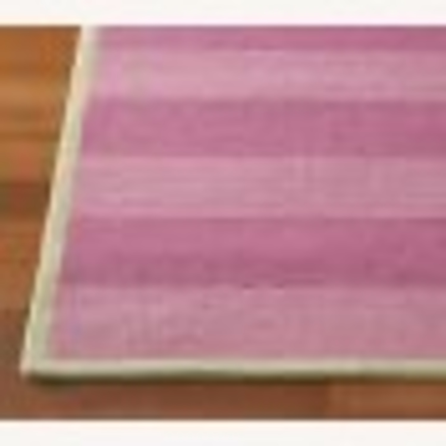 Pottery Barn Kids Pink and Green Striped Rug - image-1