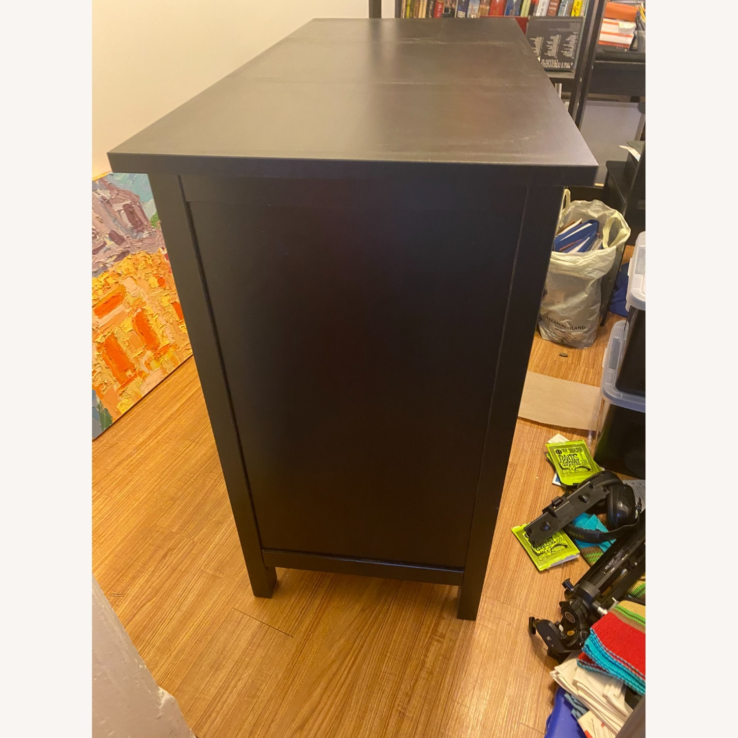 IKEA Black-Brown Three Drawer Wood Credenza - image-3