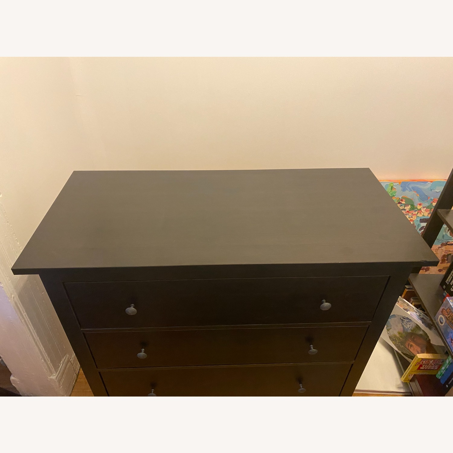 IKEA Black-Brown Three Drawer Wood Credenza - image-2