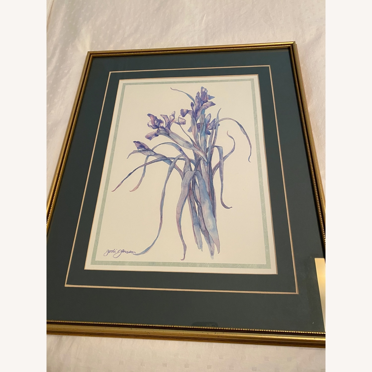 Purple Flower in Gold Frame (1 of 2) - image-1
