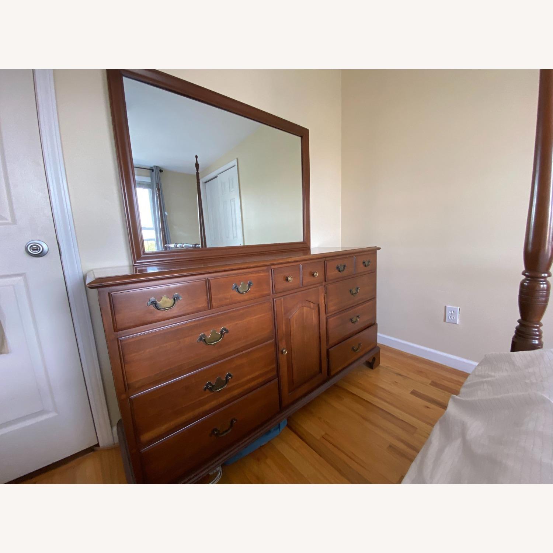 Permacraft Vintage Cherry Wood Dresser with Mirror - image-1
