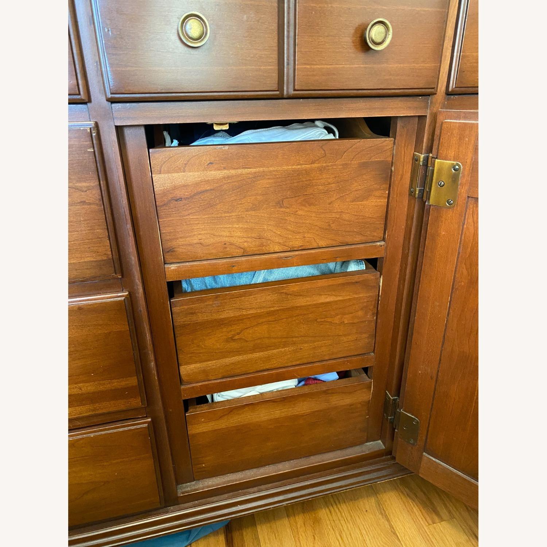 Permacraft Vintage Cherry Wood Dresser with Mirror - image-3