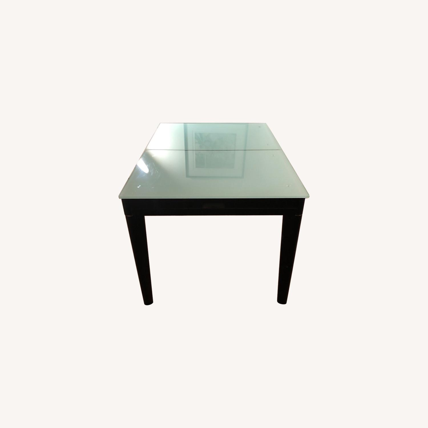 Tempered Glass Expandable Dining Table - image-0