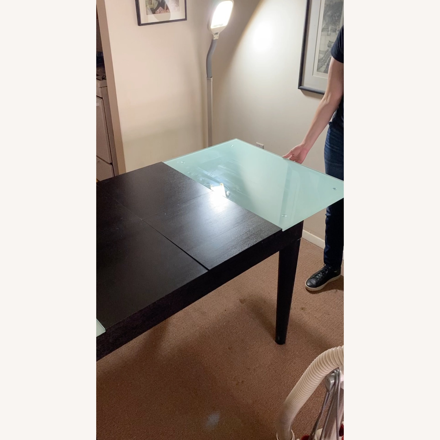 Tempered Glass Expandable Dining Table - image-8