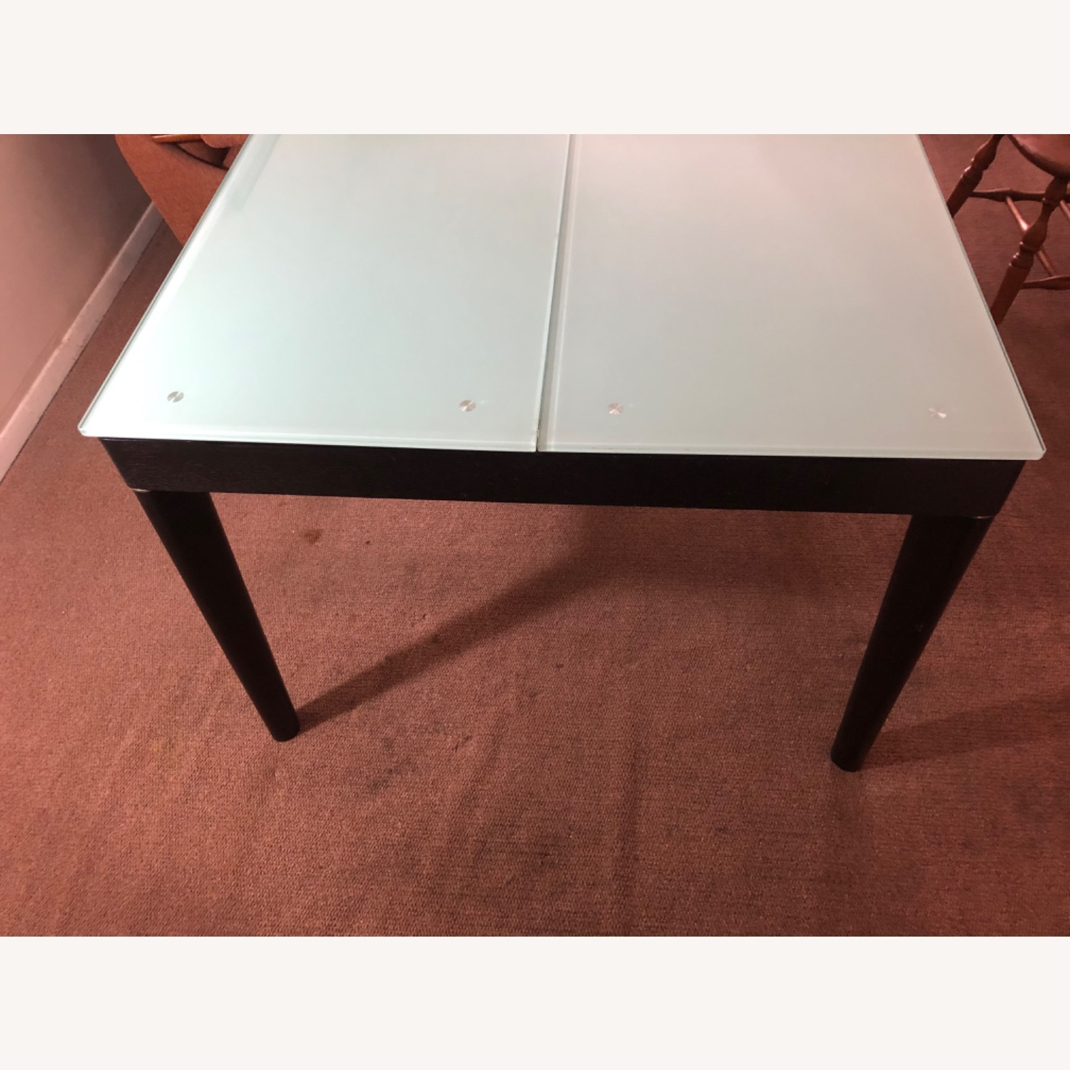 Tempered Glass Expandable Dining Table - image-1
