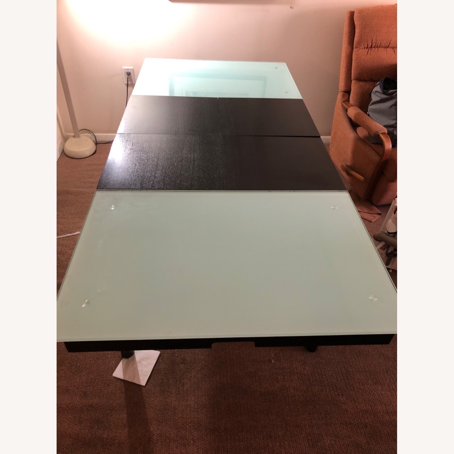 Tempered Glass Expandable Dining Table - image-4