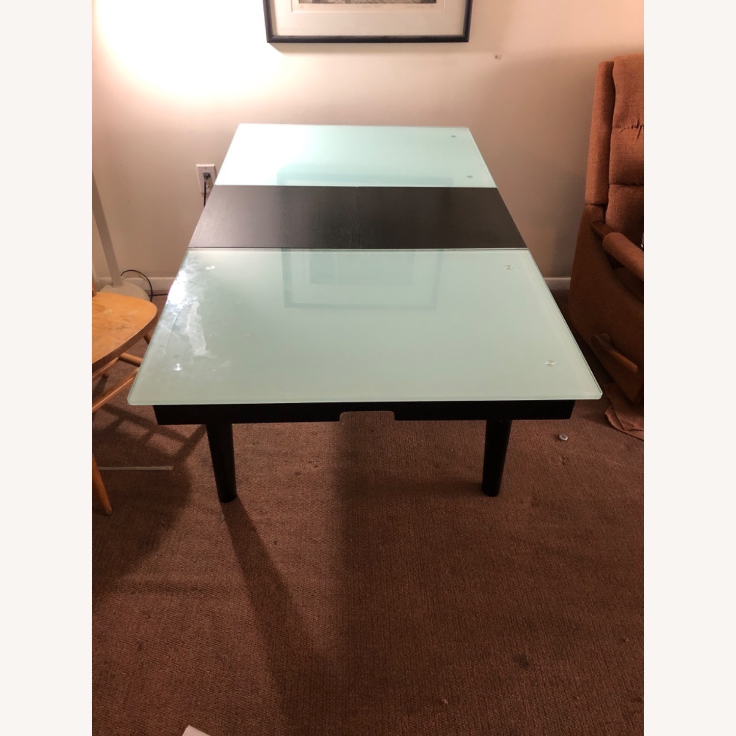 Tempered Glass Expandable Dining Table - image-2