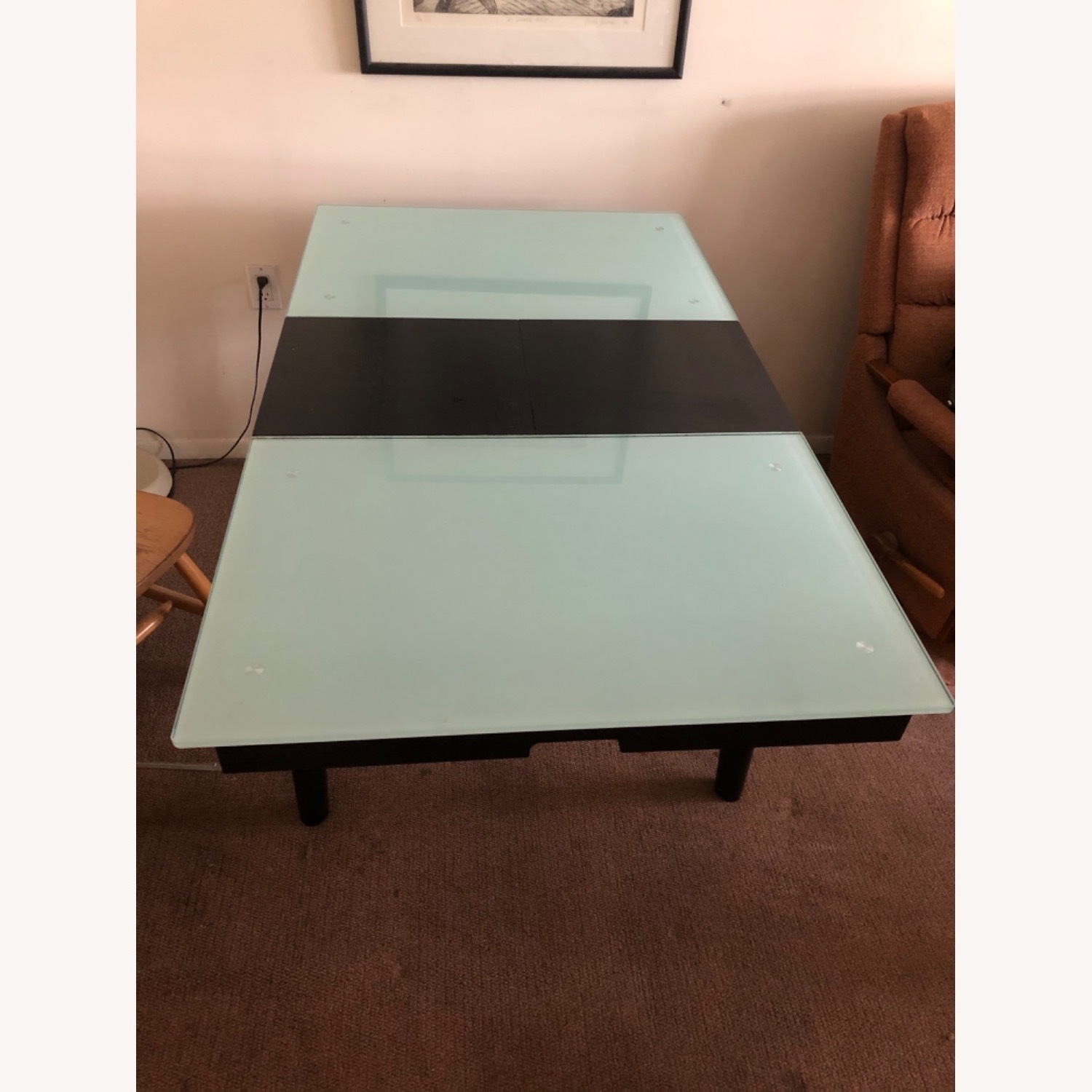 Tempered Glass Expandable Dining Table - image-3