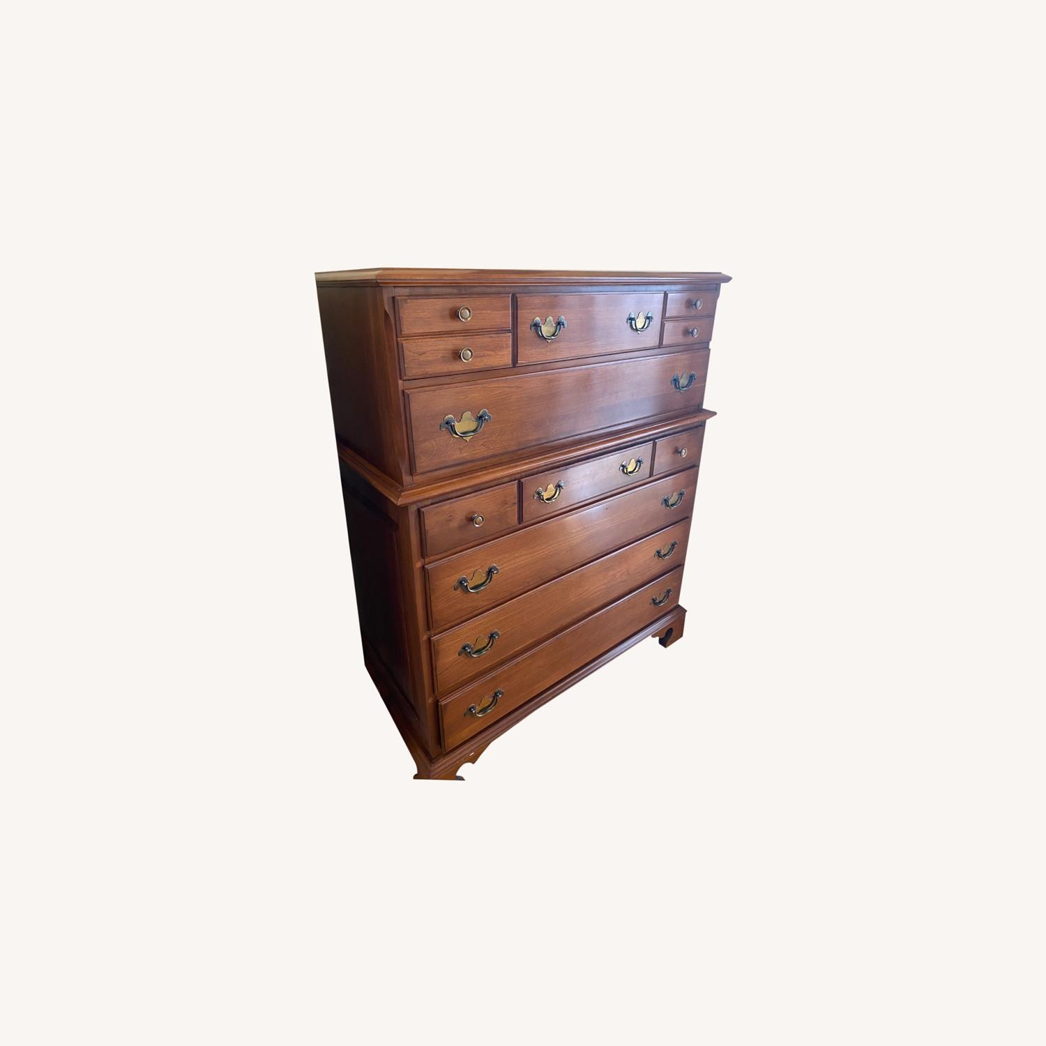 Permacraft Vintage Cherry Wood Chest/ Tall Dresser - image-0