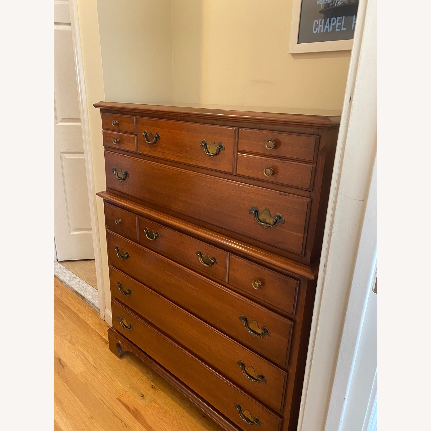 Permacraft Vintage Cherry Wood Chest/ Tall Dresser - image-1