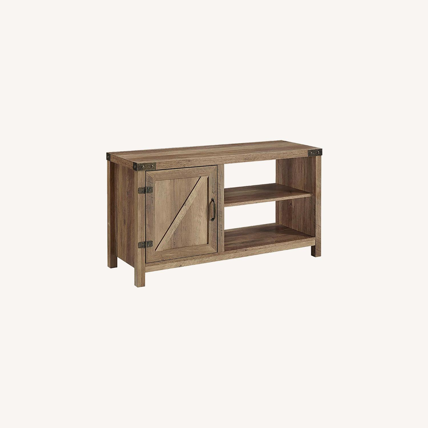 Pier 1 Rustic Farmhouse Barn Door TV Stand - image-0