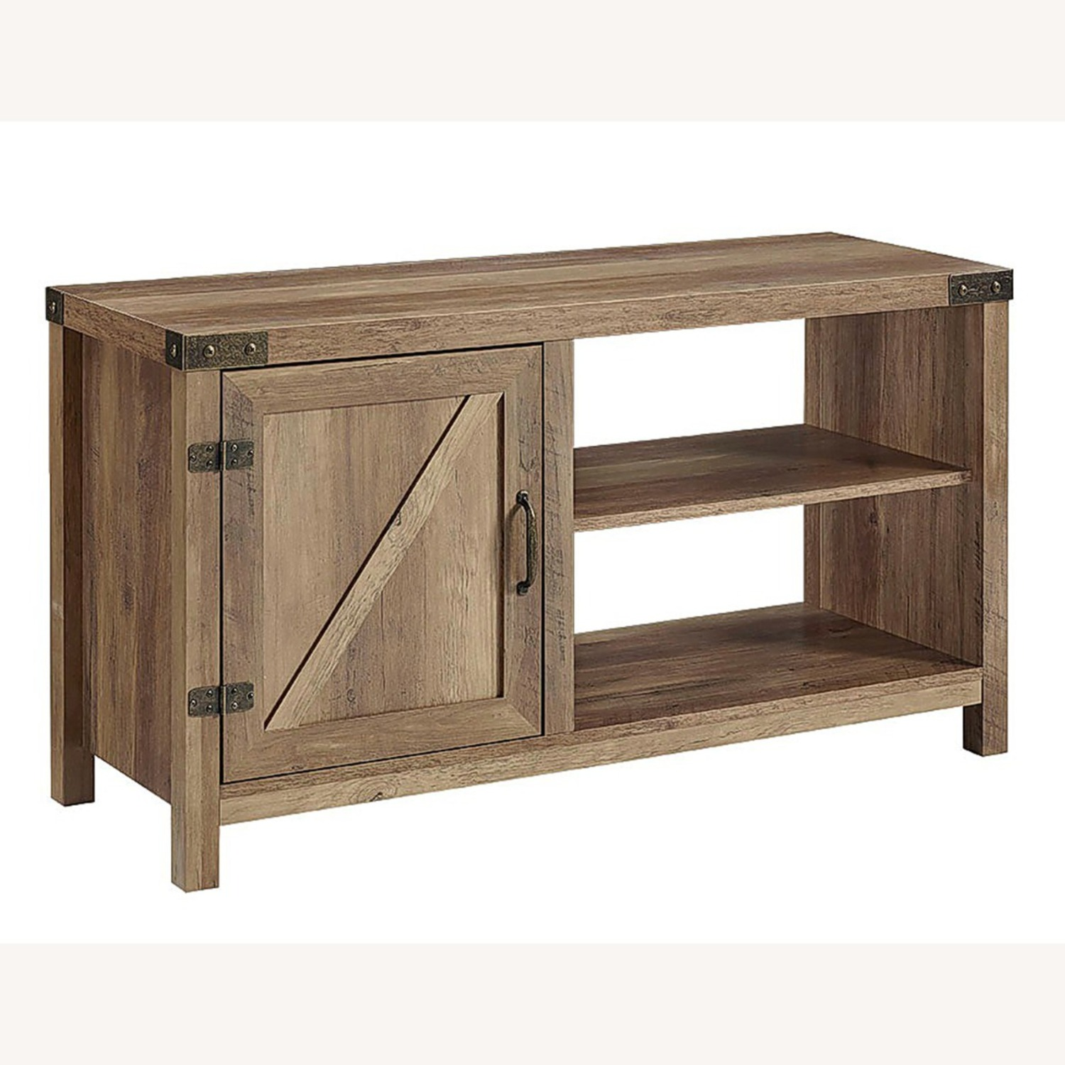 Pier 1 Rustic Farmhouse Barn Door TV Stand - image-1
