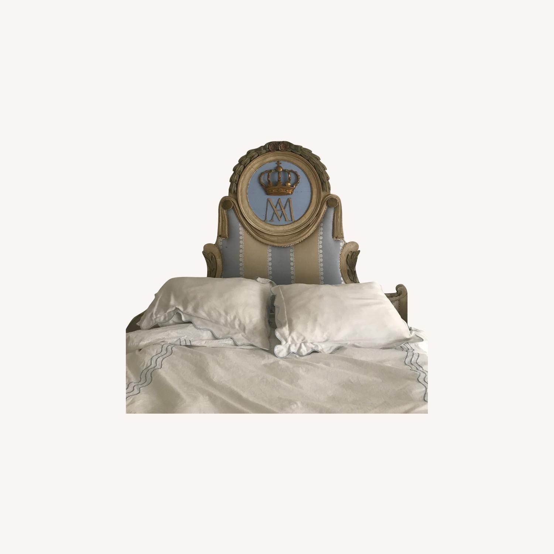Upholstered Antique Headboard - image-0