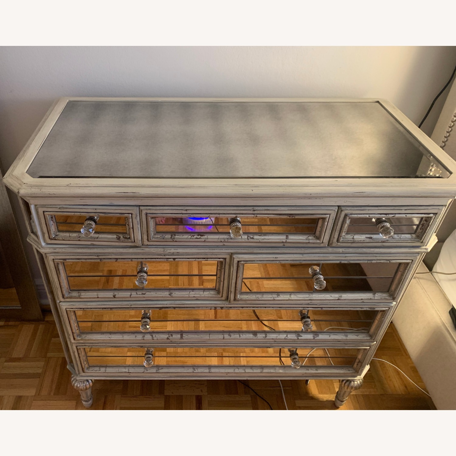 Horchow Dresden Mirrored Chest - image-1
