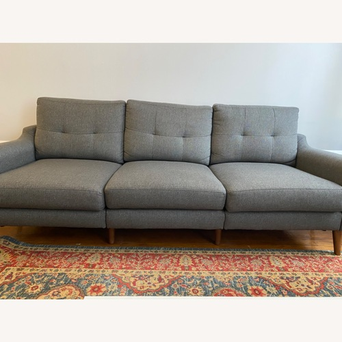 Used Burrow Sofa in Charcoal with Ottoman for sale on AptDeco