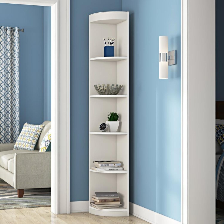 "Wayfair White Mcintosh 11.5"" W Corner Bookcase - image-2"