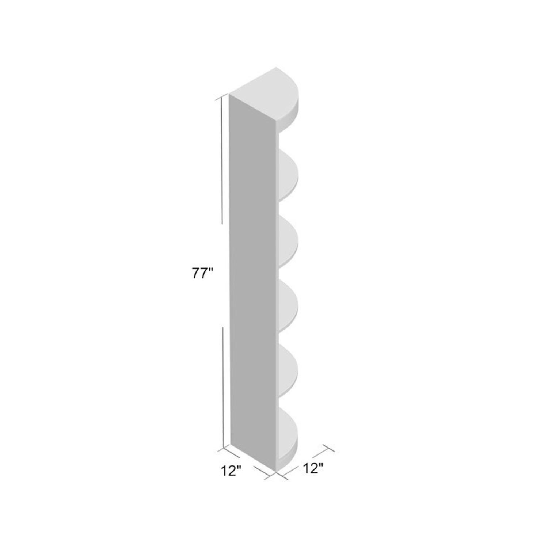 "Wayfair White Mcintosh 11.5"" W Corner Bookcase - image-3"