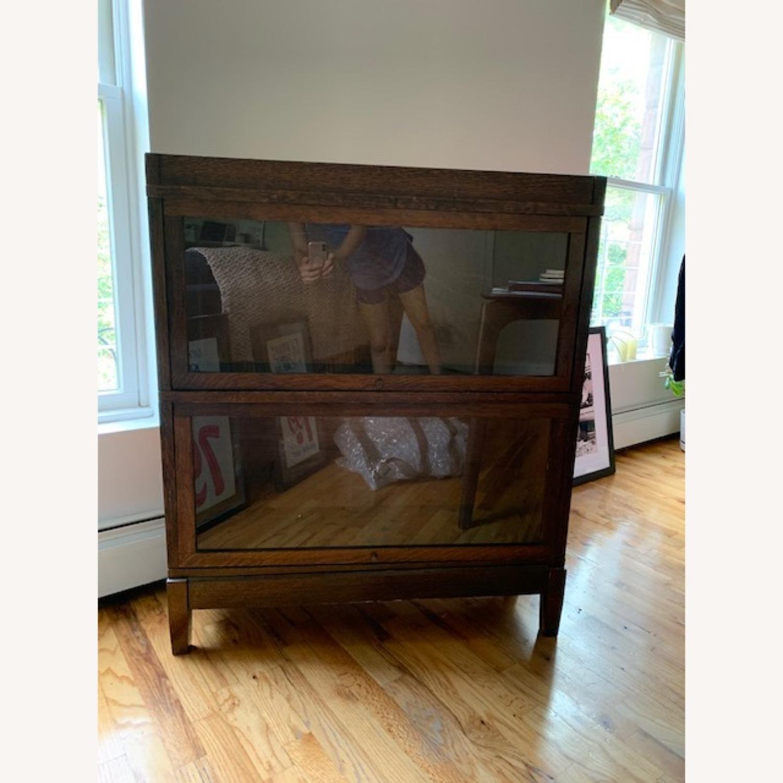 Antique Globe Wernicke Barrister Bookcase - image-1