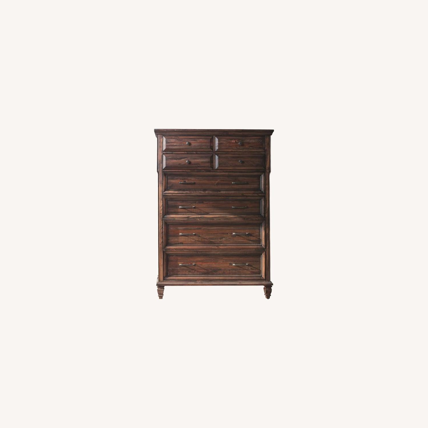 Chest W/ 8 Drawers In Weathered Burnished Brown - image-3