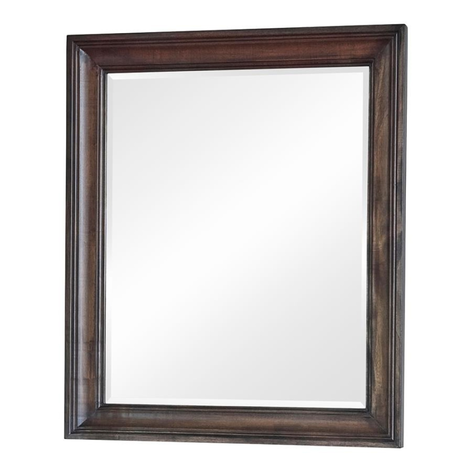 Vanity Mirror In Weathered Burnished Brown Finish - image-0