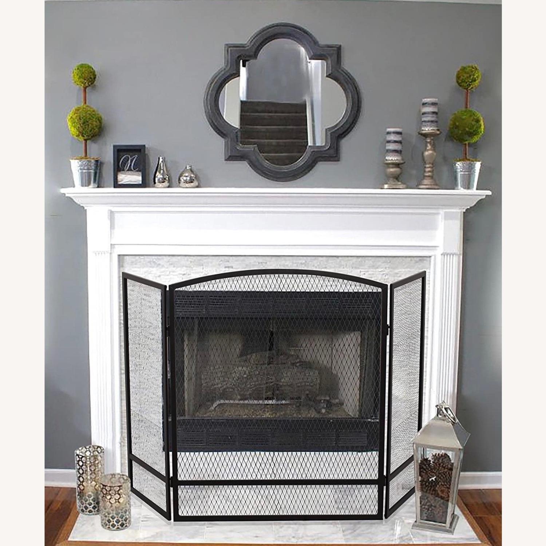 3-Panel Steel Mesh Fireplace Screen Set - image-1