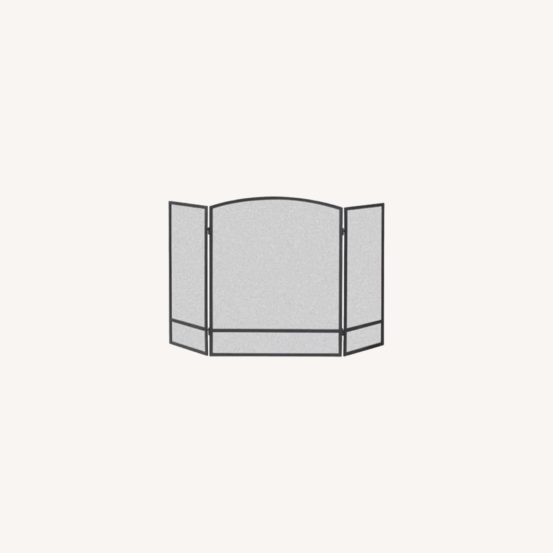 3-Panel Steel Mesh Fireplace Screen Set - image-0